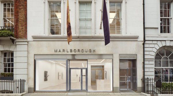 The facade of Marlborough's London gallery in the Mayfair neighborhood.