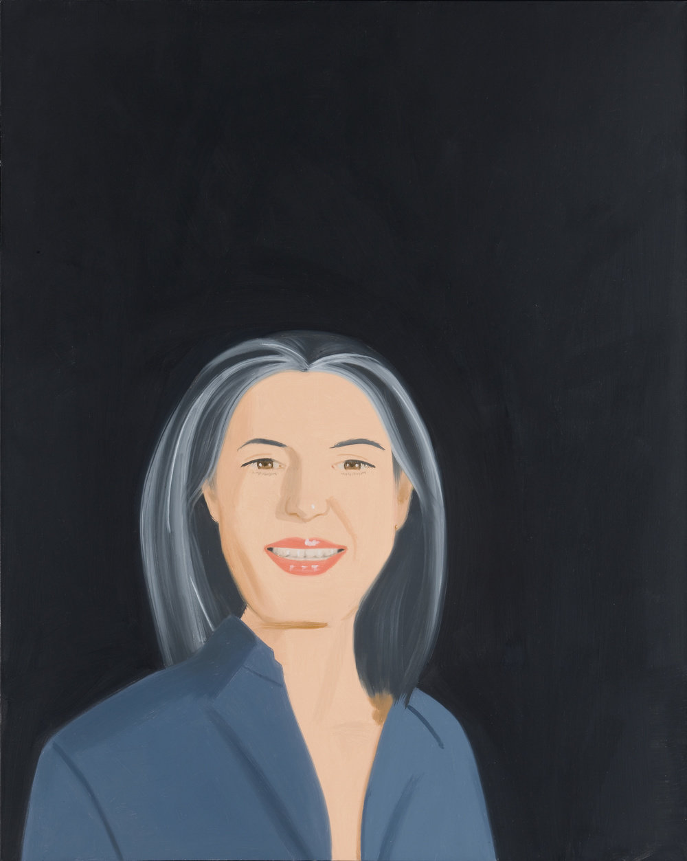 Katz ada smiling, 1993 oil on canvas 60 x 48 in photo by bill orcutt