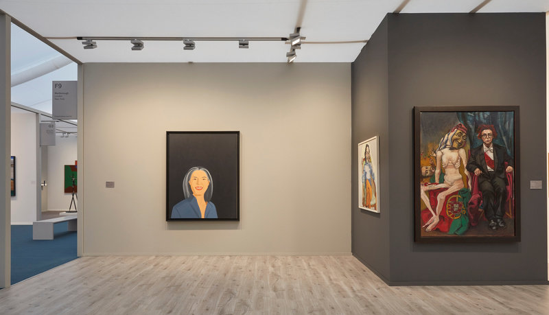 Marlborough's booth of portraiture at Frieze Masters