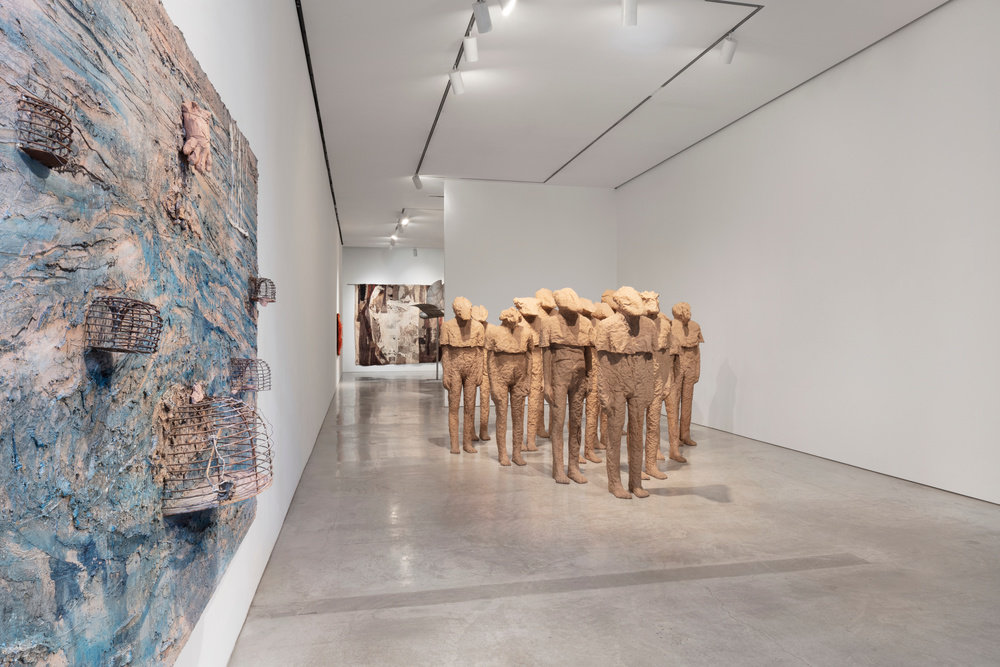 Installation view 2 by magdalena abakanowicz and anselm kiefer marlborough new york